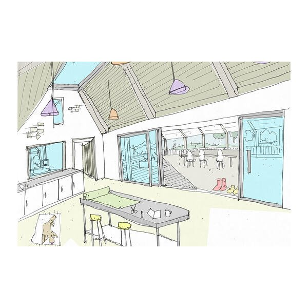Marraum Architects_Barn conversation_Bodmin_Internal Sketch