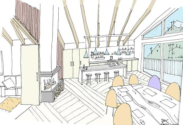 Marraum Architects_SC Chalet_Sketch