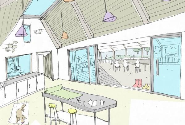 Marraum Architects_Barn conversation_Bodmin_Internal Sketch